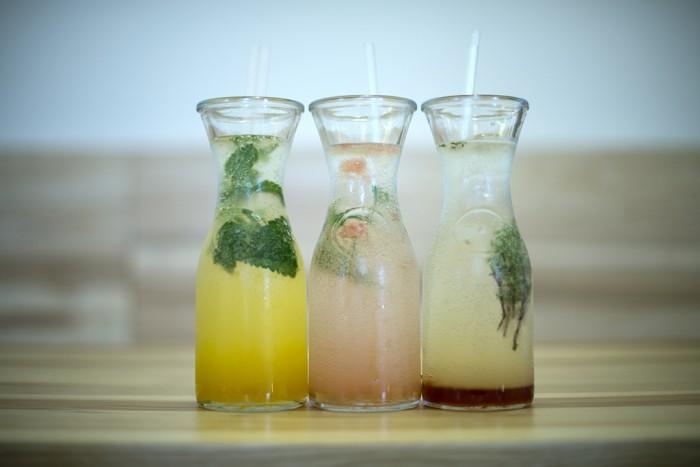 Hausgemachte Limonaden im Café Morgal